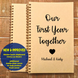 Personalized First Year Together Notebook