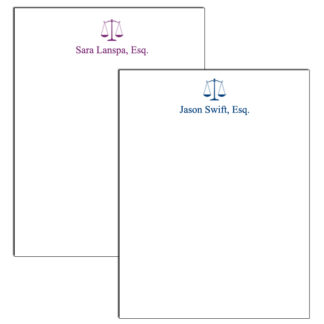 Personalized Attorney Notepad