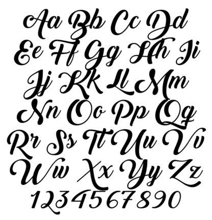bold cursive font