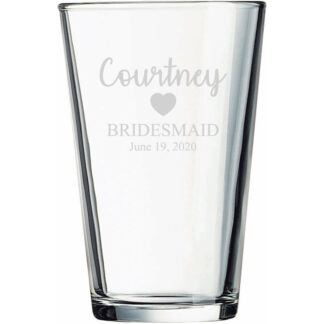 Bridesmaid Pint Glass