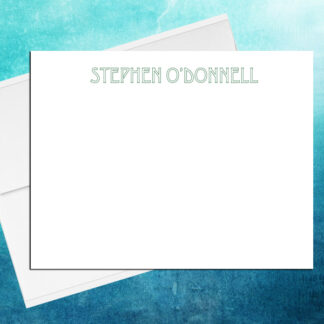 Stencil note cards