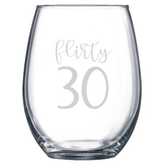 Flirty 30 stemless wine glass
