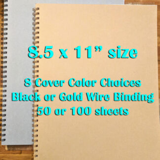 large wired notebooks 8.5 x 11""