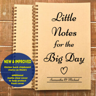 personalized little notes for the big day journal