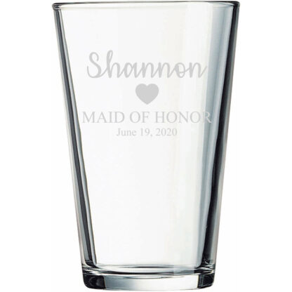 Maid of Honor Pint Glass