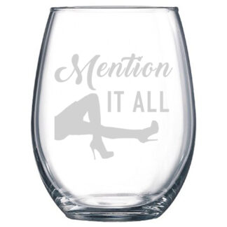 Mention It All Stemless Wine Glass