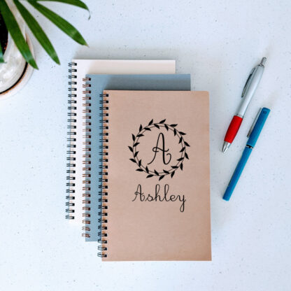 personalized notebook with name
