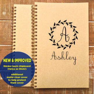 personalized notebook with name cursive