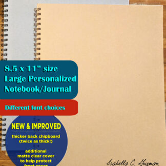 personalized large notebook with name