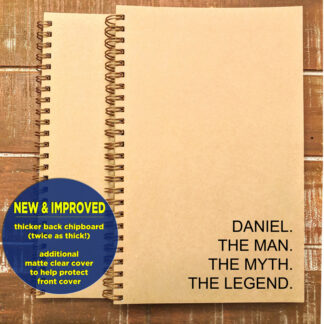 personalized the man the myth the legend notebook sketchbook journal