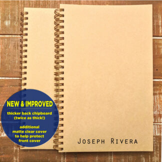 personalized notebook with name in print