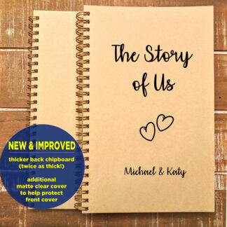 personalized story of us notebook