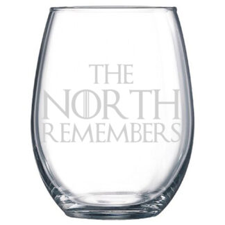 The North Remembers Stemless Wine Glasses