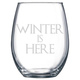 Winter is Here Stemless Wine Glass