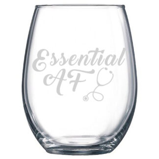 Essential AF stemless wine glass