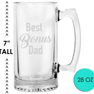 Best Bonus Dad Beer Mug Glass