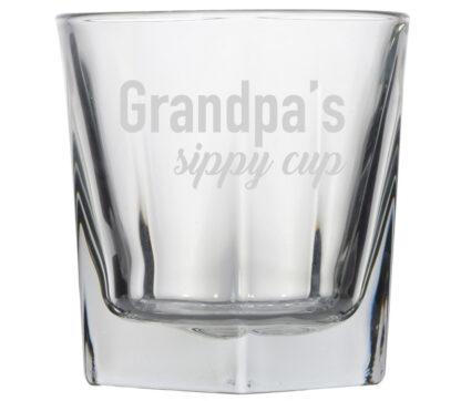 Grandpa's Sippy Cup rocks glass