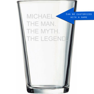 Personalized The Man The Myth The Legend Beer Pint Glass