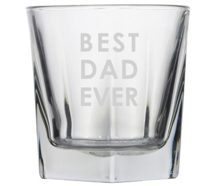 best dad ever rocks whiskey glass