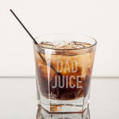 Dad Juice Rocks Glass