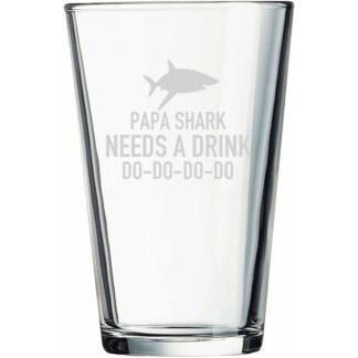 Papa Shark Pint Glass