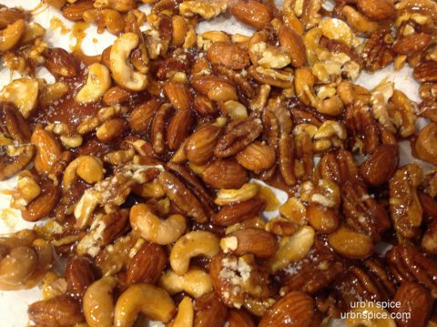 Caramelized Nuts with Fleur de Sel | urbnspice.com