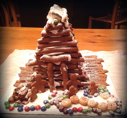 Tasty Men: A simple Gingerbread House made by grandchildren | urbnspice.com