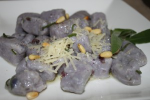 Purple Gnocchi, all dressed up!