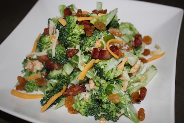 Broccoli Cheddar Bacon Salad | urbnspice.com