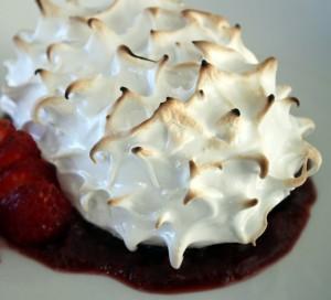 Earl Grey Chiffon Mini Cake with Cherry Rhubarb Compote | urbnspice.com