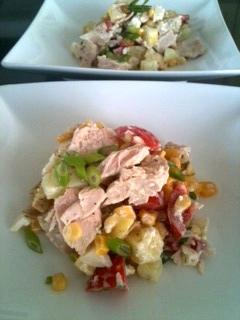 Lemon Cucumber Hearty Supper Salad | urbnspice.com