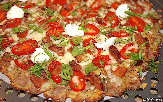 Smashed Potato Pizza - Ready to Eat | urbnspice.com