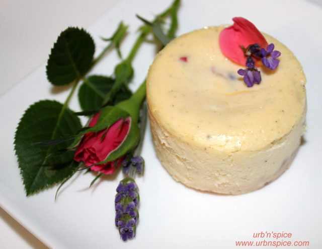 Lavender-Rose Cheesecake | urbnspice.com