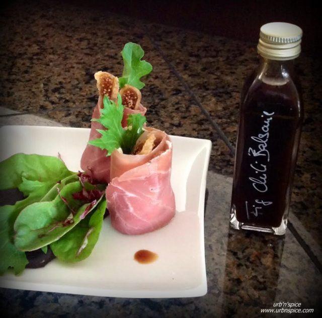 Patio Delights: Fig Prosciutto appetizer | urbnspice.com