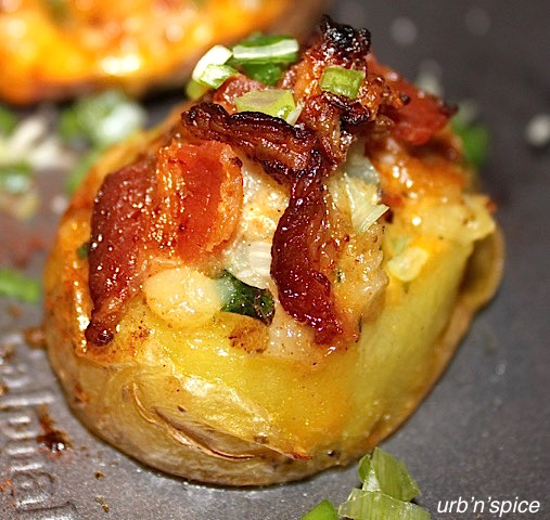 Bacon Cheese Potato Cups | urbnspice.com