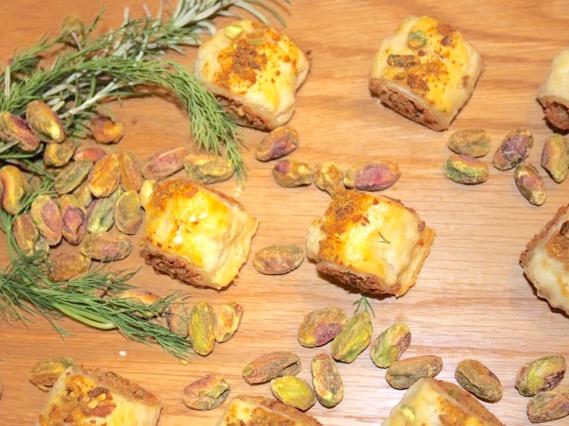 Pistachio Chicken Pastry Puffs   urbnspice.com