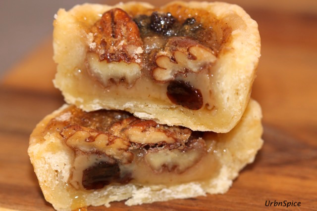 Ultimate Canadian Maple Butter Tarts: Maple Butter Tart with Pecans and Raisins | urbnspice.com