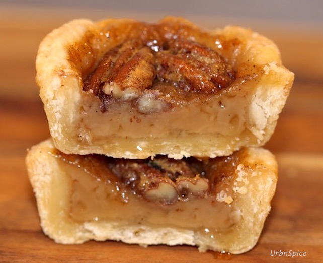 Maple Butter Tart with Pecans | urbnspice.com