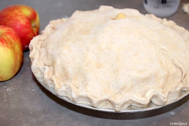 The Apple Cream Pie is almost ready to bake after a quick chill for 30 minutes | urbnspice.com