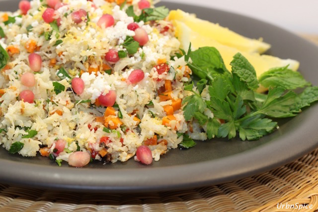 Plated Cauliflower Tabbouleh | urbnspice.com