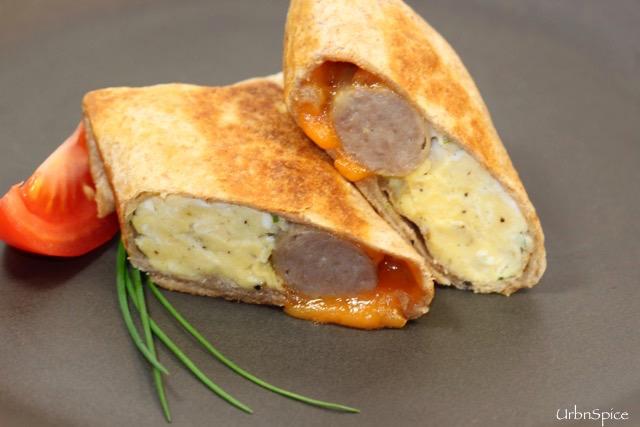 Sausage & Egg Breakfast Burrito | urbnspice.com