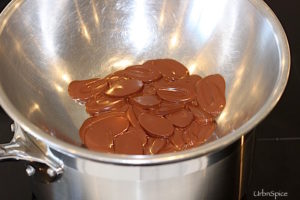 A Bain Marie is used to melt the chocolate gently | urbnspice.com
