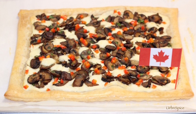 Mushroom Tart ready to bake | urbnspice.com