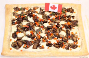 Canadian Themed Mushroom Tart | urbnspice.com