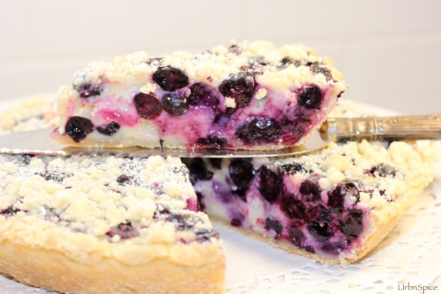 Blueberry Sour Cream and Greek Yogurt Tarte | urbnspice.com