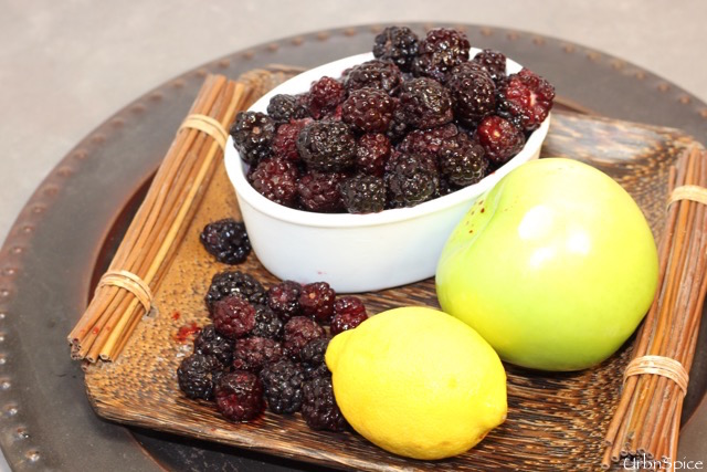 Food Preservation: Wild Berry Chutney mise en place | urbnspice.com