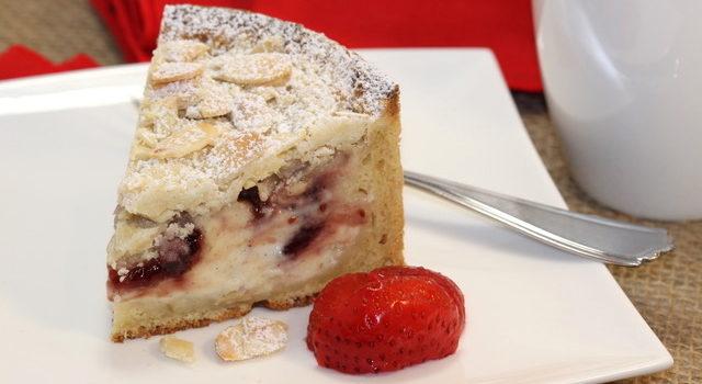 Plated Raspberry Cream Cheese Coffeecake | urbnspice.com