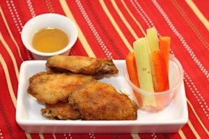 Wing Snack with Honey Garlic Dip | urbnspice.com