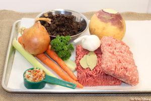 Ingredients for Meat, Mushroom & Vegetable base | urbnspice.com