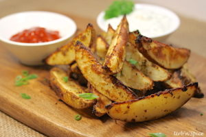 Savoury Potato Wedges | urbnspice.com